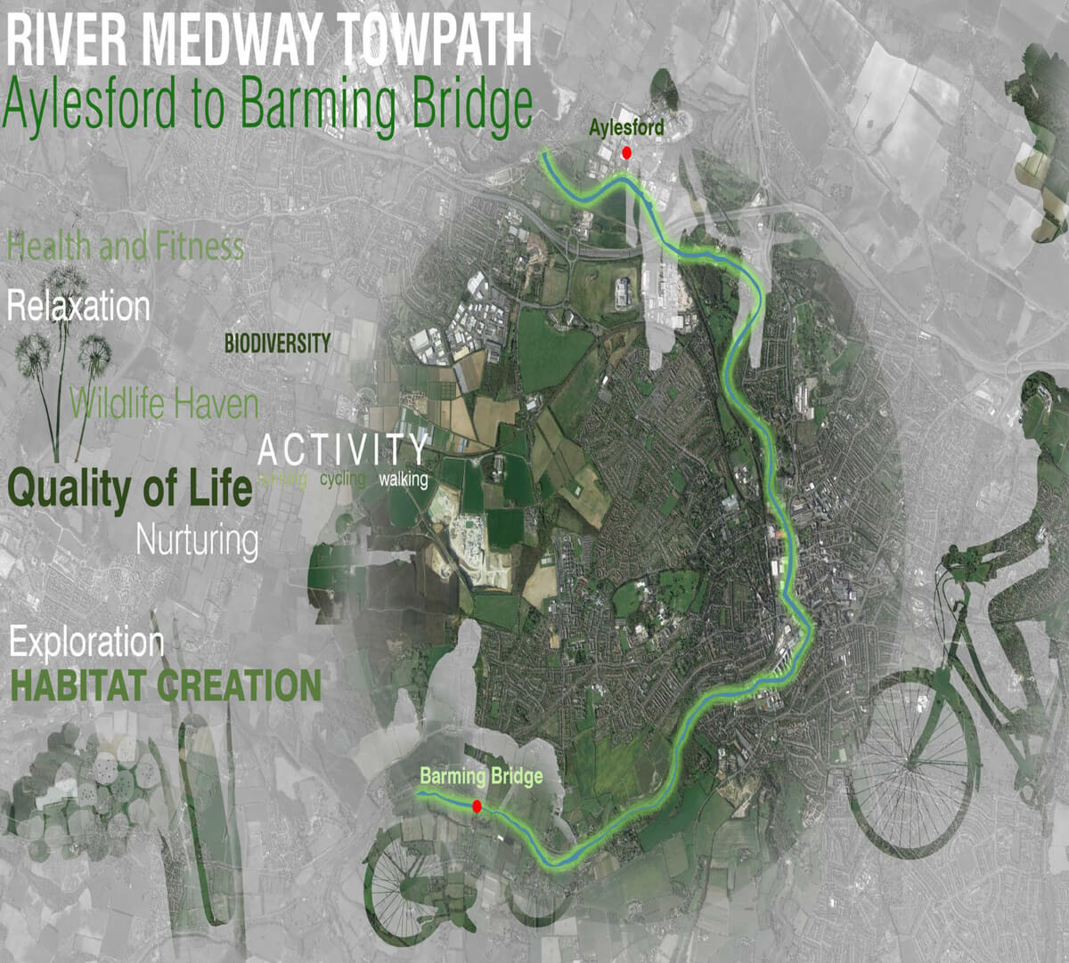 River Medway Towpath Mapping